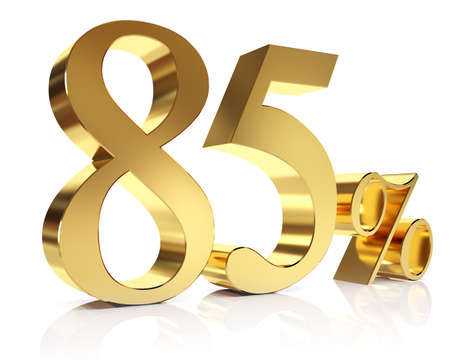 Eighty five percent 3D in gold