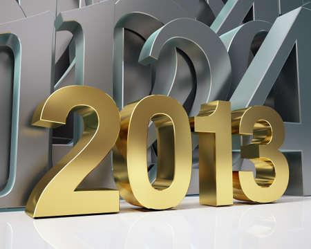 golden year 2013 Stock Photo