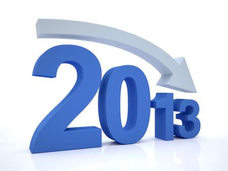 3D Render of decrease 2012 With Arrow