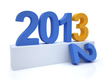 3D Render of the new year 2013