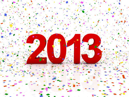 New year 2013 and confetti