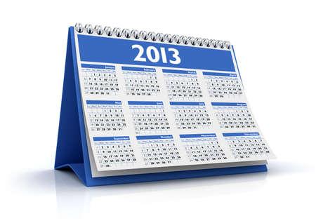 november 3d: calendar 2013 in white background