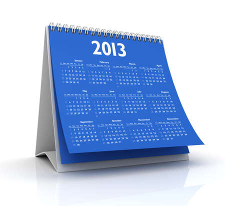 calendar 2013 in white background photo