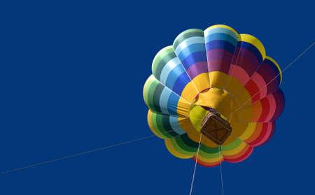 Hot air balloon in the blue sky