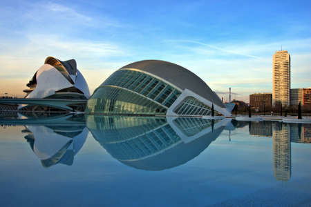 postmodern: City of the arts and the sciences  in Valencia Spain