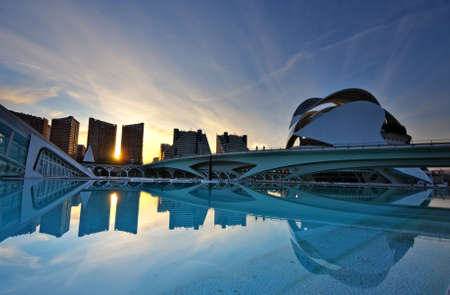 nightshot: City of the arts and the sciences  in Valencia Spain
