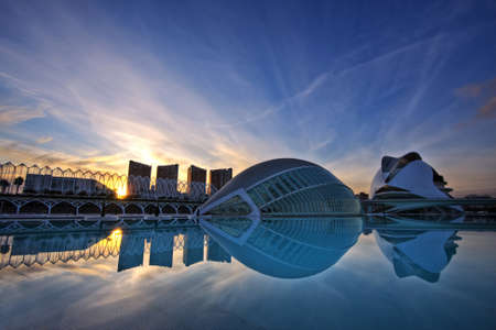 City of the arts and the sciences  in Valencia Spain