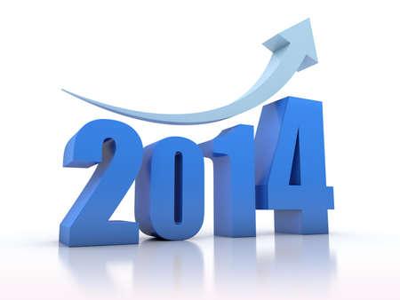 Growth 2014 With Arrow  Stock Photo