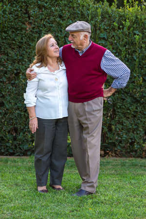 Senior couple portrait in Spain. 75 years old Stock Photo