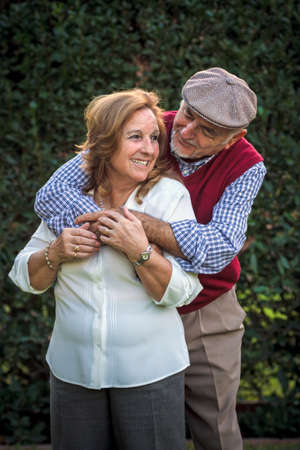 Senior couple portrait in Spain. They are 75 years old