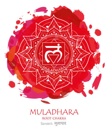 First chakra illustration vector of Muladhara