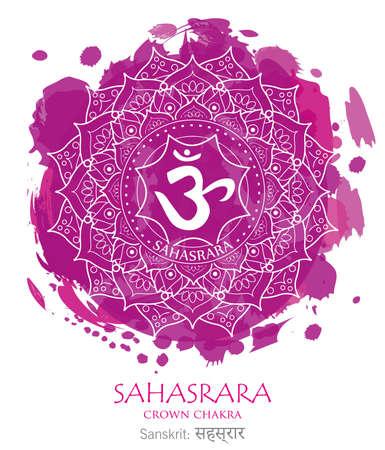 seventh chakra illustration vector of Sahasrara