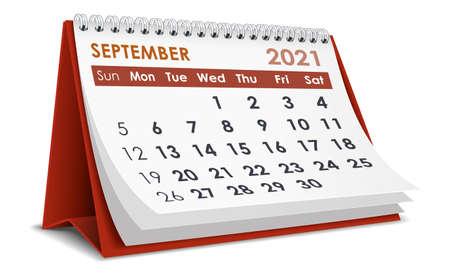 September 2021 Calendar Vecteurs