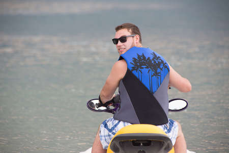Young Man on a jet ski