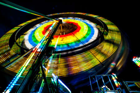Spinning Farris Wheel up close Stock Photo