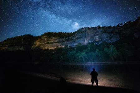 Star gazing under a beuatiful night sky