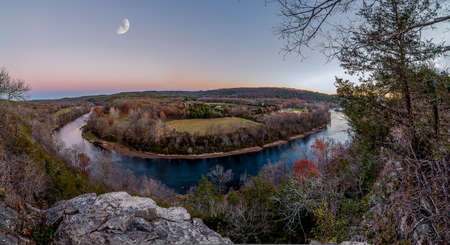 Overlooking the White River and Ozark Mountains during fall. Stock fotó