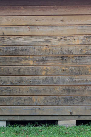 detail of Weathered wood planks from a barn