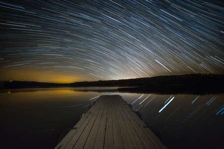 The stars spin over norfork lake in arkansas Stock fotó