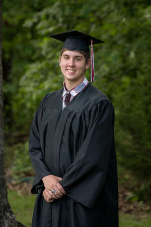 Young man after the graduation ceremony