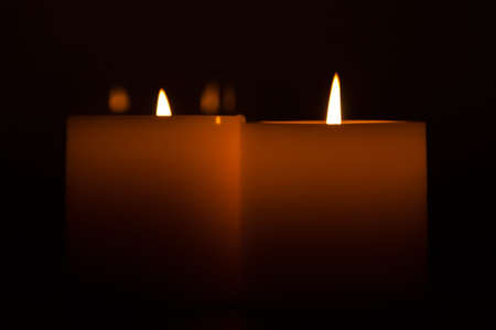 candles in the dark photo