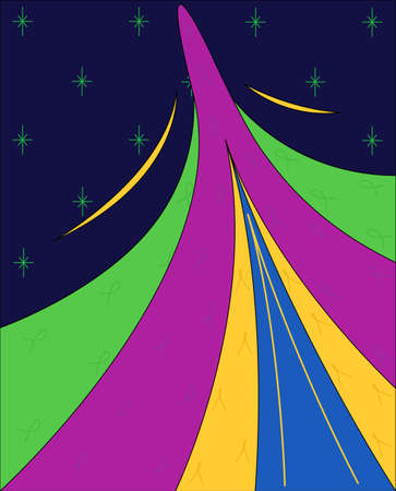 aloft: Abstraction - reminiscent of a flying comet on a background of stars.