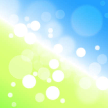 Background - abstract illustration bokeh in blue, green and yellow colors Stock Illustration - 13702212