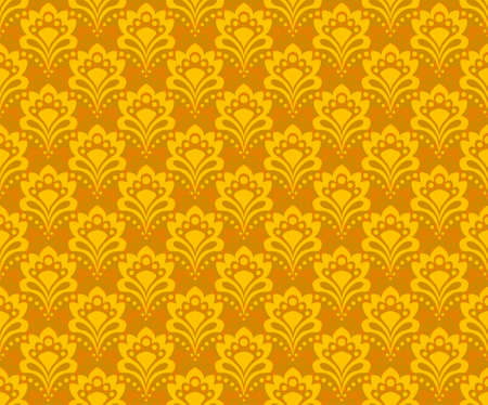 Seamless background - abstract gold flowers Vector