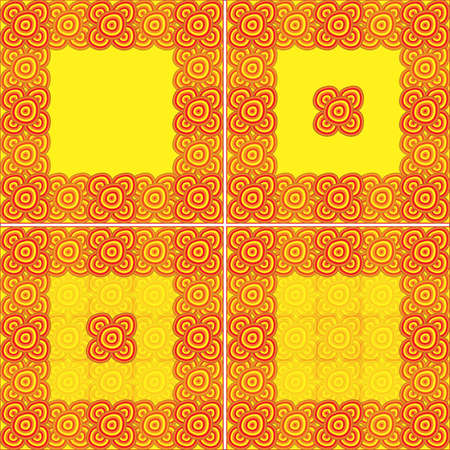 Set the framework for an African theme with red and yellow colors Vector