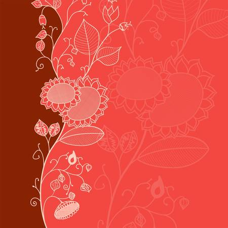 Floral design with space for text Stock Vector - 13798682