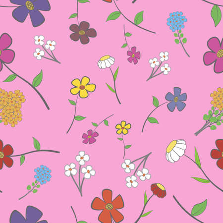 Background - floral seamless with a variety of flowers Stock Vector - 13860050