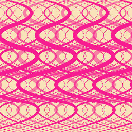 modulations: Pink background - abstraction with twisting strips Illustration