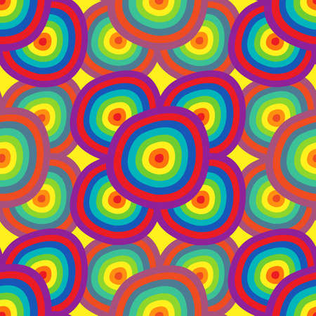 Background abstraction - a seamless pattern in the colors of the rainbow. Vector