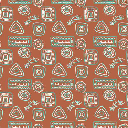 Seamless background - rock paintings theme. EPS10 vector illustration, swatch included. Vector