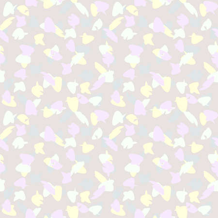 Abstract seamless background - in pastel color blots. EPS10 vector, swatch included. Vector