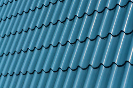 Abstract background - Blue metal tile photo