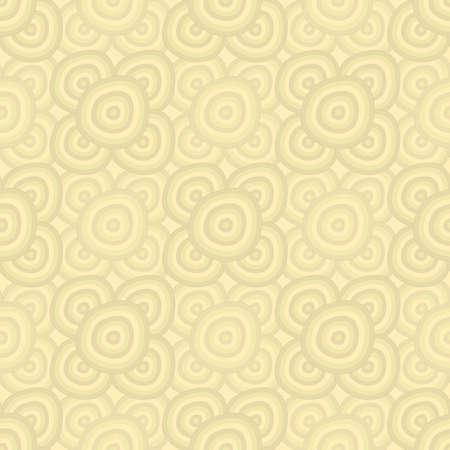 シームレスな背景 - ベージュ円
