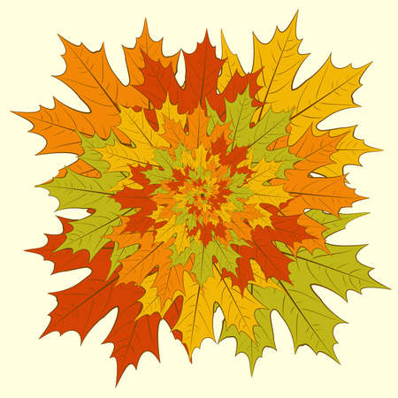 Graphic drawing - a maple leaves boquet Stock Vector - 15123512