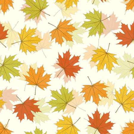 Seamless background - autumnal maple leaves Stock Vector - 15123517
