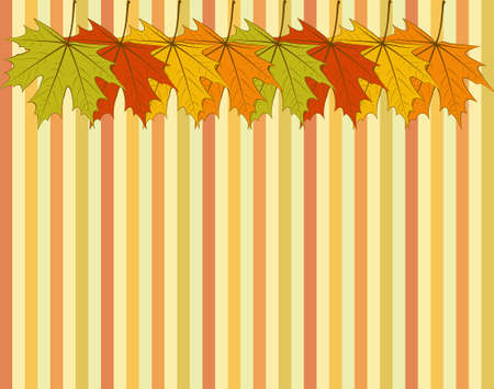 Abstract Autumnal Wallpaper - maple leaves on a motley background Illustration