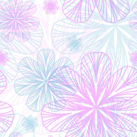 Floral Girlish seamless background Stock Vector - 15365157