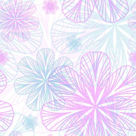 girlish: Floral Girlish seamless background
