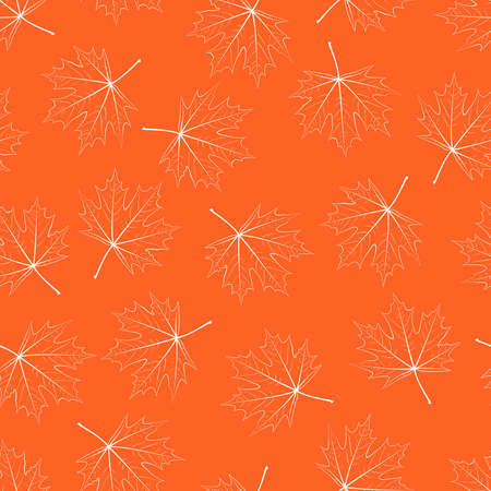 Filigree maple leaf seamless background Vector