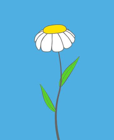 Cartoon chamomile flower Stock Vector - 15736867