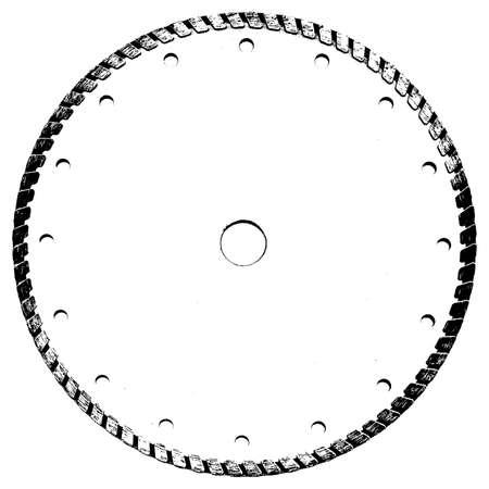 textural: Grunge textural element - cutting disk.