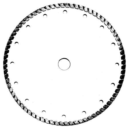 Grunge textural element - cutting disk. Stock Vector - 15874759