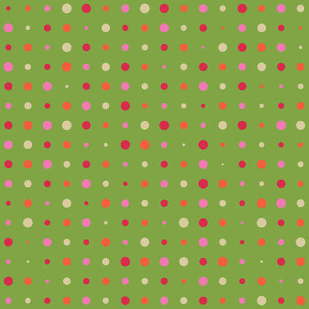 Abstract seamless background - color dots.  Vector