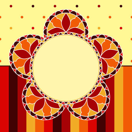 Abstract Floral background - Stained glass flowers Vector
