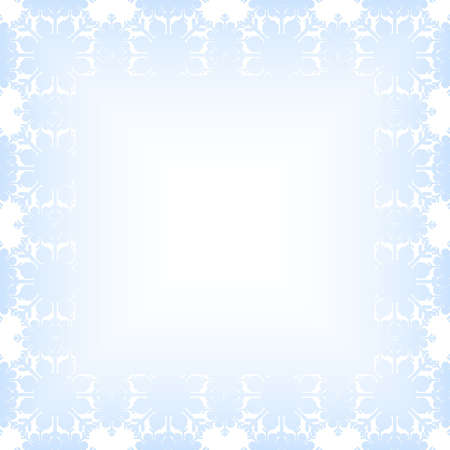 Ornate christmas frame with borders from snowflakes Stock Vector - 16541915