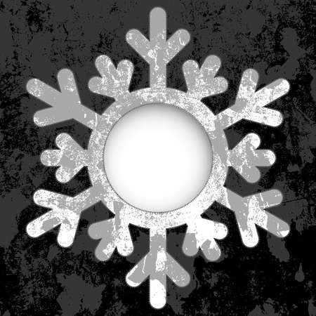 Monochrome Christmas card - a snowflake, with space for text or image.  vector Stock Vector - 16762271